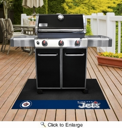 "Fan Mats 14254  NHL - Winnipeg Jets 26"" x 42"" Grill Mat"