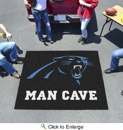 Fan Mats 14279  NFL - Carolina Panthers 5' x 6' Man Cave Tailgater Mat