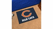 "Fan Mats 14281  NFL - Chicago Bears 19"" x 30"" Man Cave Starter Mat"