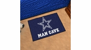 "Fan Mats 14293  NFL - Dallas Cowboys 19"" x 30"" Man Cave Starter Mat"