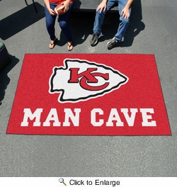 Fan Mats 14322  NFL - Kansas City Chiefs 5' x 8' Man Cave Ulti-Mat