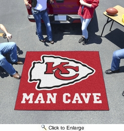Fan Mats 14323  NFL - Kansas City Chiefs 5' x 6' Man Cave Tailgater Mat