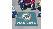 Fan Mats 14327  NFL - Miami Dolphins 5' x 6' Man Cave Tailgater Mat