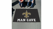 Fan Mats 14338  NFL - New Orleans Saints 5' x 8' Man Cave Ulti-Mat