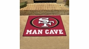 "Fan Mats 14364  NFL - San Francisco 49ers 33.75"" x 42.5"" Man Cave All-Star Mat"