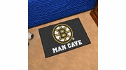 "Fan Mats 14394  NHL - Boston Bruins 19"" x 30"" Man Cave Starter Mat"