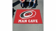 Fan Mats 14407  NHL - Carolina Hurricanes 5' x 8' Man Cave Ulti-Mat