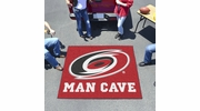 Fan Mats 14408  NHL - Carolina Hurricanes 5' x 6' Man Cave Tailgater Mat