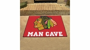 "Fan Mats 14409  NHL - Chicago Blackhawks 33.75"" x 42.5"" Man Cave All-Star Mat"