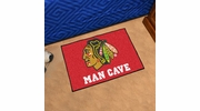 "Fan Mats 14410  NHL - Chicago Blackhawks 19"" x 30"" Man Cave Starter Mat"
