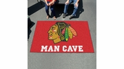 Fan Mats 14411  NHL - Chicago Blackhawks 5' x 8' Man Cave Ulti-Mat