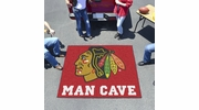 Fan Mats 14412  NHL - Chicago Blackhawks 5' x 6' Man Cave Tailgater Mat