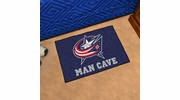 "Fan Mats 14418  NHL - Columbus Blue Jackets 19"" x 30"" Man Cave Starter Mat"