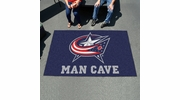 Fan Mats 14419  NHL - Columbus Blue Jackets 5' x 8' Man Cave Ulti-Mat
