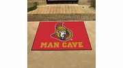"Fan Mats 14465  NHL - Ottawa Senators 33.75"" x 42.5"" Man Cave All-Star Mat"