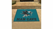 "Fan Mats 14481  NHL - San Jose Sharks 33.75"" x 42.5"" Man Cave All-Star Mat"