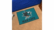 "Fan Mats 14482  NHL - San Jose Sharks 19"" x 30"" Man Cave Starter Mat"