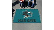 Fan Mats 14483  NHL - San Jose Sharks 5' x 8' Man Cave Ulti-Mat