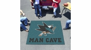 Fan Mats 14484  NHL - San Jose Sharks 5' x 6' Man Cave Tailgater Mat