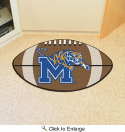 "Fan Mats 1449  University of Memphis Tigers 20.5"" x 32.5"" Football Shaped Area Rug"