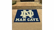 "Fan Mats 14581  University of Notre Dame Fighting Irish 33.75"" x 42.5"" Man Cave All-Star Mat"