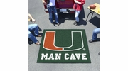 Fan Mats 14666  University of Miami Hurricanes 5' x 6' Man Cave Tailgater Mat