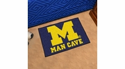 "Fan Mats 14668  University of Michigan Wolverines 19"" x 30"" Man Cave Starter Mat"