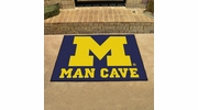 "Fan Mats 14669  University of Michigan Wolverines 33.75"" x 42.5"" Man Cave All-Star Mat"