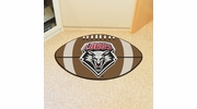 "Fan Mats 1468  UNM - University of New Mexico Lobos 20.5"" x 32.5"" Football Shaped Area Rug"