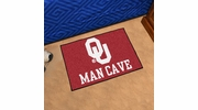 "Fan Mats 14684  University of Oklahoma Sooners 19"" x 30"" Man Cave Starter Mat"