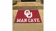 "Fan Mats 14685  University of Oklahoma Sooners 33.75"" x 42.5"" Man Cave All-Star Mat"