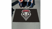Fan Mats 1469  UNM - University of New Mexico Lobos 5' x 8' Ulti-Mat Area Rug / Mat