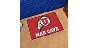 "Fan Mats 14704  University of Utah Utes 19"" x 30"" Man Cave Starter Mat"