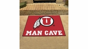 "Fan Mats 14705  University of Utah Utes 33.75"" x 42.5"" Man Cave All-Star Mat"