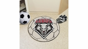 "Fan Mats 1471  UNM - University of New Mexico Lobos 27"" Diameter Soccer Ball Shaped Area Rug"