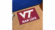"Fan Mats 14712  Virginia Tech Hokies 19"" x 30"" Man Cave Starter Mat"