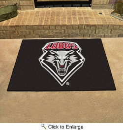 "Fan Mats 1472  UNM - University of New Mexico Lobos 33.75"" x 42.5"" All-Star Series Area Rug / Mat"