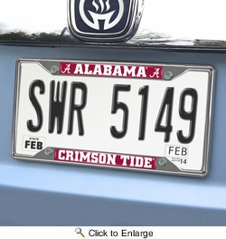 Fan Mats 14805  University of Alabama Crimson Tide License Plate Frame
