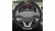 "Fan Mats 14912  University of Miami Hurricanes 15"" Steering Wheel Cover"