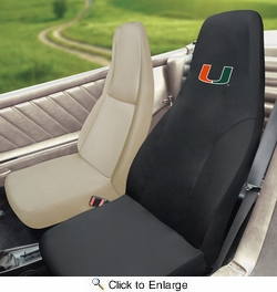 Fan Mats 15080  University of Miami Hurricanes Seat Cover (1 Cover)