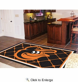 Fan Mats 15179  MLB - Baltimore Orioles 5' x 8' Area Rug