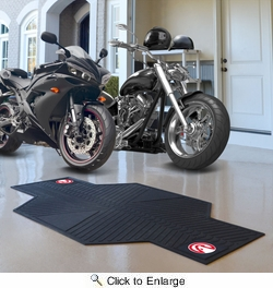 "Fan Mats 15369  NBA - Atlanta Hawks 82.5"" x 42"" Motorcycle Mat"