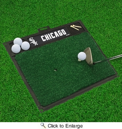 "Fan Mats 15435  MLB - Chicago White Sox 20"" x 17"" Golf Hitting Mat"