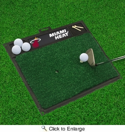 "Fan Mats 15447  NBA - Miami Heat 20"" x 17"" Golf Hitting Mat"
