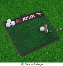 "Fan Mats 15451  NBA - Portland Trail Blazers 20"" x 17"" Golf Hitting Mat"