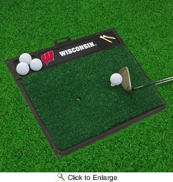 "Fan Mats 15517  University of Wisconsin Badgers 20"" x 17"" Golf Hitting Mat"