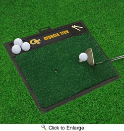 "Fan Mats 15521  Georgia Tech Yellow Jackets 20"" x 17"" Golf Hitting Mat"