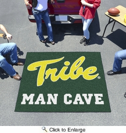 Fan Mats 15545  College of William & Mary Tribe 5' x 6' Man Cave Tailgater Mat