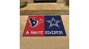 "Fan Mats 15556  NFL - Houston Texans vs Dallas Cowboys 33.75"" x 42.5"" House Divided Mat"