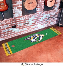 "Fan Mats 15576  NHL - Nashville Predators 18"" x 72"" Putting Green Mat"